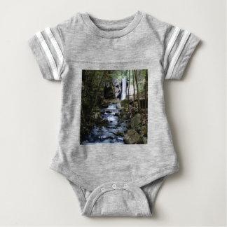 silent stream in forest baby bodysuit