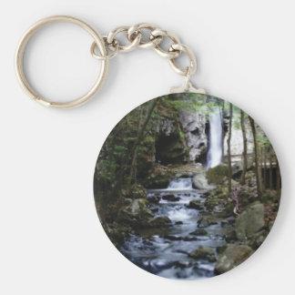 silent stream in forest keychain