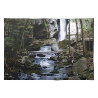 silent stream in forest placemat