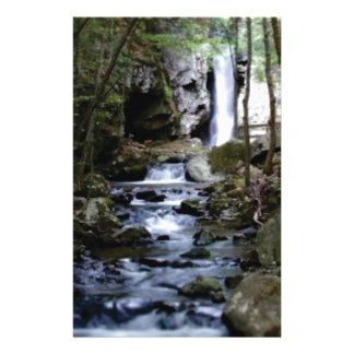 silent stream in forest stationery