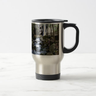 silent stream in forest travel mug