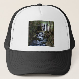 silent stream in forest trucker hat