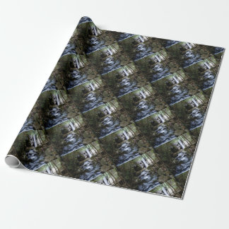 silent stream in forest wrapping paper