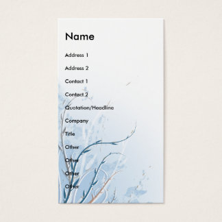 silent summer breeze design business card