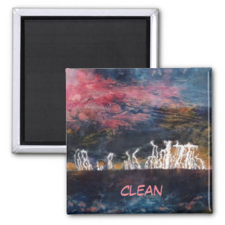 """Silent Thunder #2"" Abstract Dishwasher Magnet"