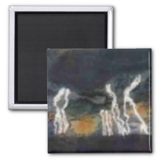 """Silent Thunder"" Abstract Art Magnet"