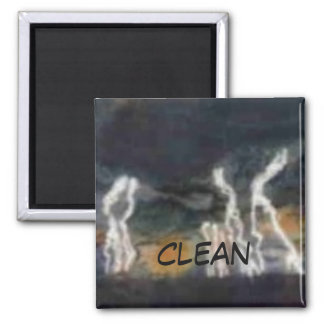 """Silent Thunder"" Abstract Dishwasher Status Magnet"