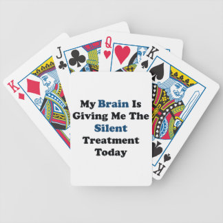Silent Treatment Bicycle Playing Cards
