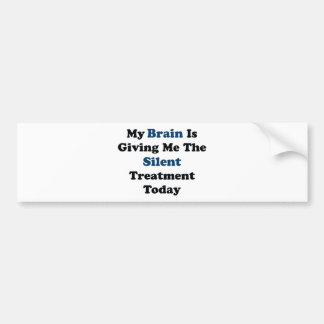 Silent Treatment Bumper Sticker