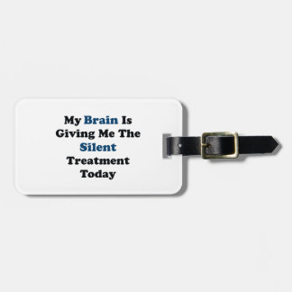 Silent Treatment Luggage Tag