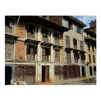 Silent Windows and Doors in Kathmandu Postcard