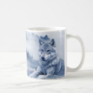 Silently watching... Wolf Dog Mug