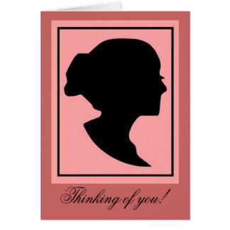 Silhouette1 Note Card