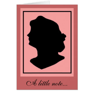 Silhouette 2 note card