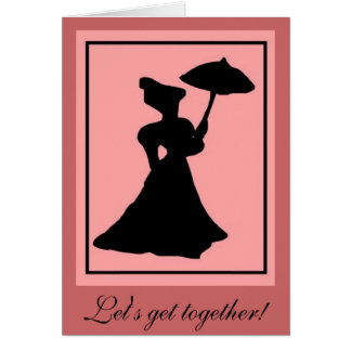 Silhouette 3 stationery note card
