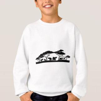 Silhouette African Safari Animal Landscape Scene Sweatshirt