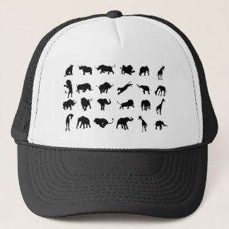 Silhouette African Safari Animal Trucker Hat