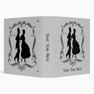 Silhouette Art Elegant Man And Woman Binder