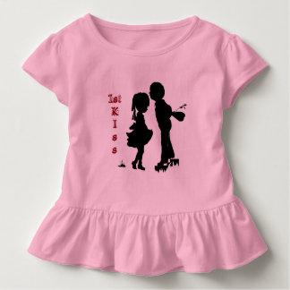 Silhouette artwork,1st kiss by Elizabeth Scafuto Toddler T-shirt