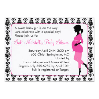Silhouette Baby Shower Invitations