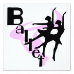 Silhouette Ballet T-shirts and Gifts Custom Announcements