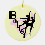 Silhouette Ballet T-shirts and Gifts Christmas Tree Ornament