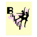 Silhouette Ballet T-shirts and Gifts Postcard