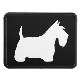 Silhouette blanche de Terrier d'écossais Couverture Remorque D'attelage