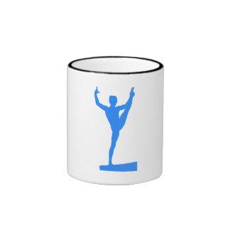 Silhouette bleue de faisceau d'équilibre mugs à café