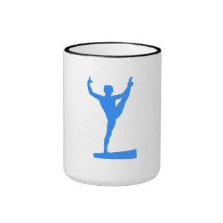 Silhouette bleue de faisceau d'équilibre mugs