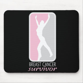Silhouette Breast Cancer Survivor Mouse Pad