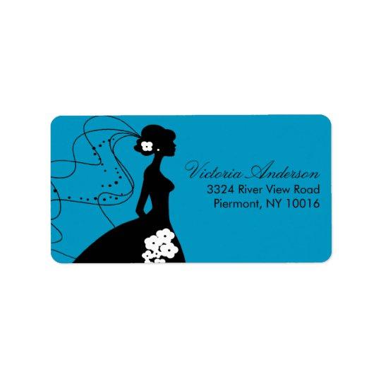 Silhouette Bride Return Address Labels.