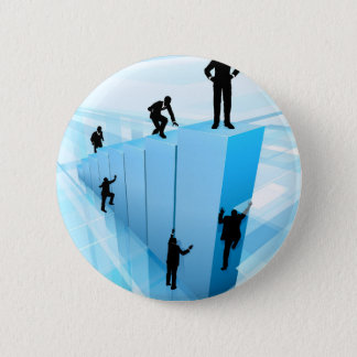 Silhouette Business People Competition Concept 2 Inch Round Button