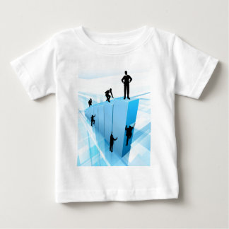 Silhouette Business People Competition Concept Baby T-Shirt
