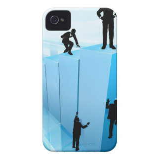 Silhouette Business People Competition Concept iPhone 4 Case
