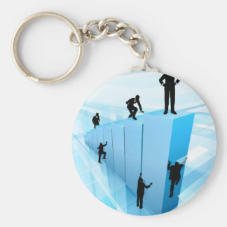 Silhouette Business People Competition Concept Keychain