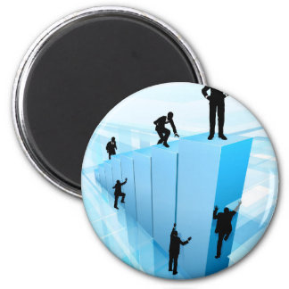 Silhouette Business People Competition Concept Magnet