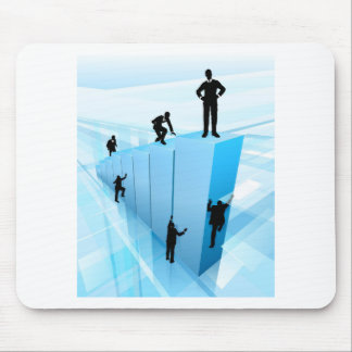 Silhouette Business People Competition Concept Mouse Pad