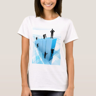 Silhouette Business People Competition Concept T-Shirt