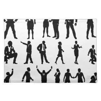 Silhouette Business People Set Placemat