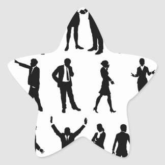 Silhouette Business People Set Star Sticker