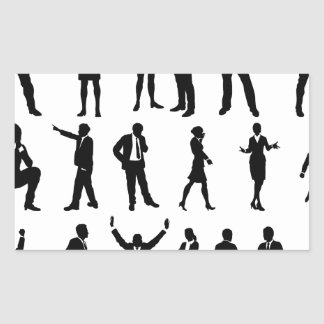 Silhouette Business People Set Sticker