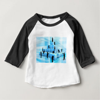 Silhouette Business Team People Building Blocks Baby T-Shirt