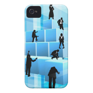 Silhouette Business Team People Building Blocks Case-Mate iPhone 4 Case