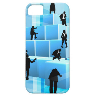 Silhouette Business Team People Building Blocks iPhone 5 Cases