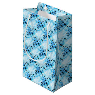Silhouette Business Team People Building Blocks Small Gift Bag