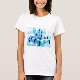 Silhouette Business Team People Building Blocks T-Shirt