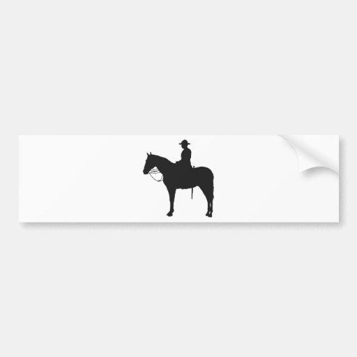 Silhouette canadienne de Mountie Autocollants Pour Voiture