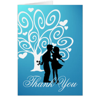 Silhouette Couple Thank You Card