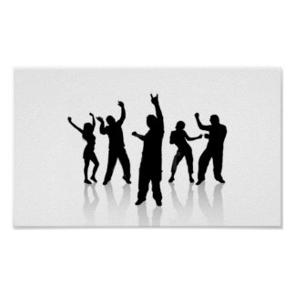 Silhouette dances poster